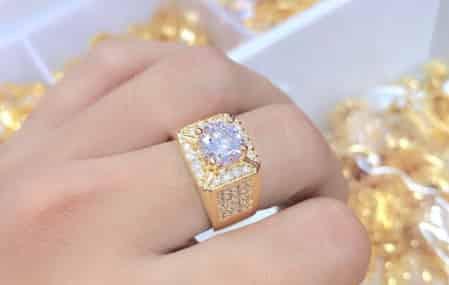Mẫu Nhẫn Vàng Tây Nam Giá Dưới 3,4,5 Triệu 10k đính kim cương